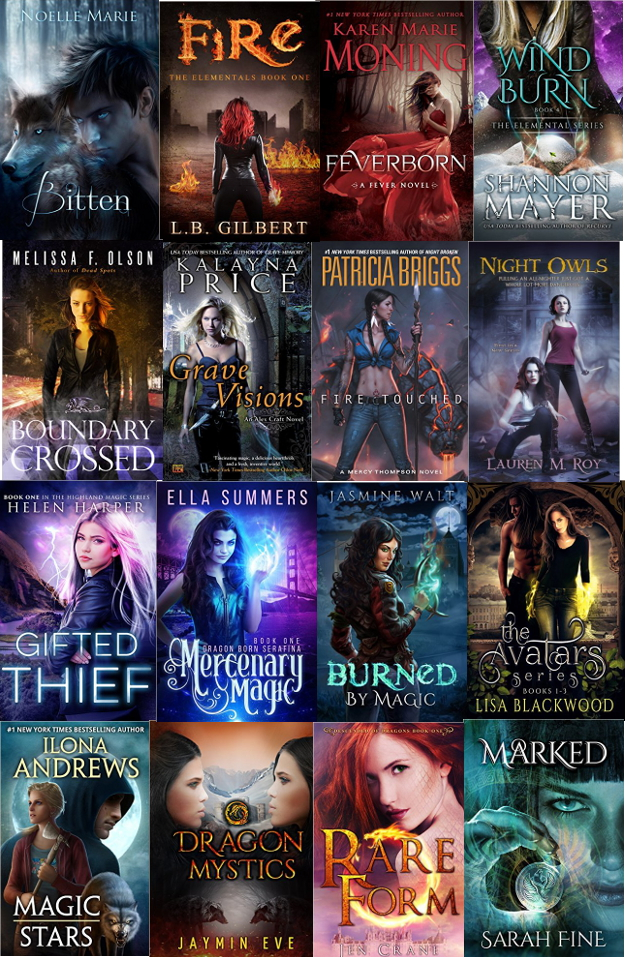 Best-selling urban fantasy covers