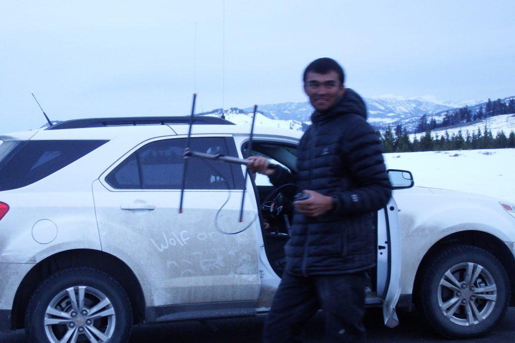 Tracking wolf radio signals