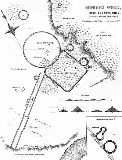 Hopeton Earthworks map