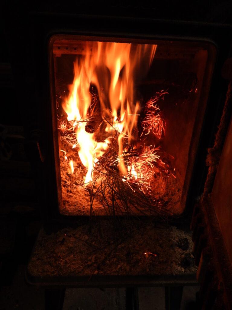 Burning the Christmas tree